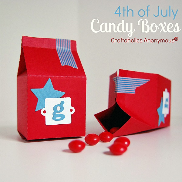 4th of july candy box