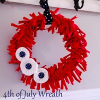 4th of July T-shirt Wreath TUTORIAL