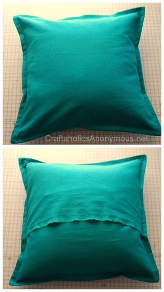 pillow cover with a border