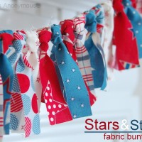 Patriotic Scrappy Fabric Bunting TUTORIAL