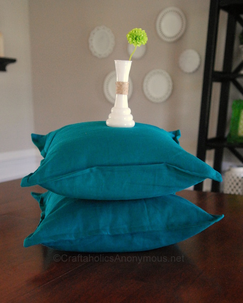 sew a pillow cover