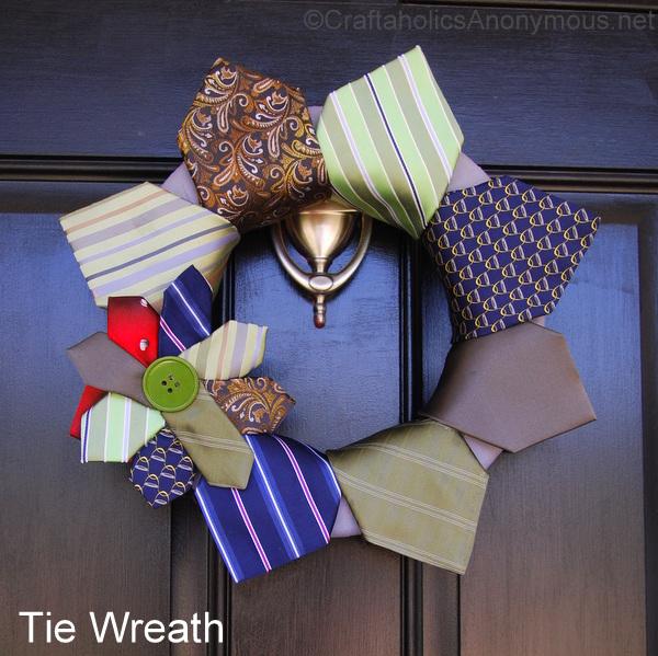 tie wreath