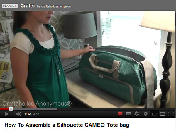1d6a7de9f3 How to assemble the Silhouette CAMEO tote bag VIDEO