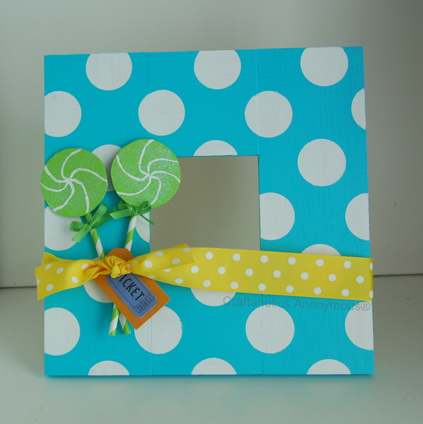 Craftaholics Anonymous 174 Polka Dots Frame Willy Wonka Craft