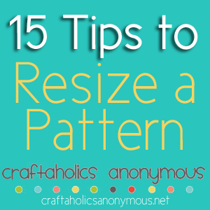how to resize a sewing pattern