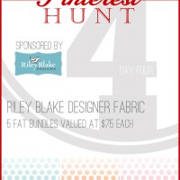 The Great Pinterest Hunt Day 4 with Riley Blake GIVEAWAY!