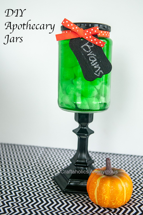 Craftaholics Anonymous Diy Halloween Apothecary Jar