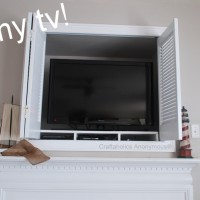 So….what is exactly is behind the White Shutters on my Mantel?