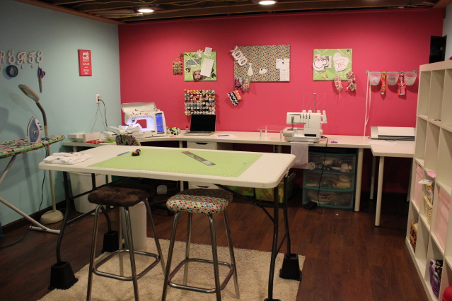 midwest modern boutique craft room