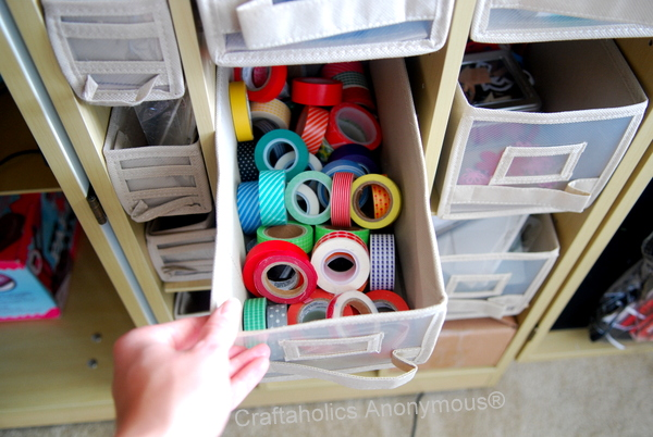 Washi Tape Nicely Organized In A WorkBox Made By The Original