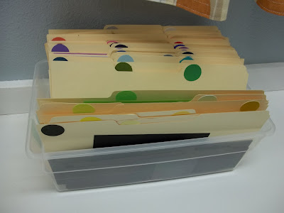 organize paper scraps