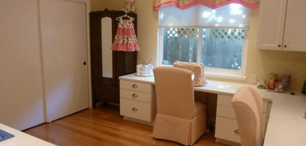 sewing desk and storage cabinet