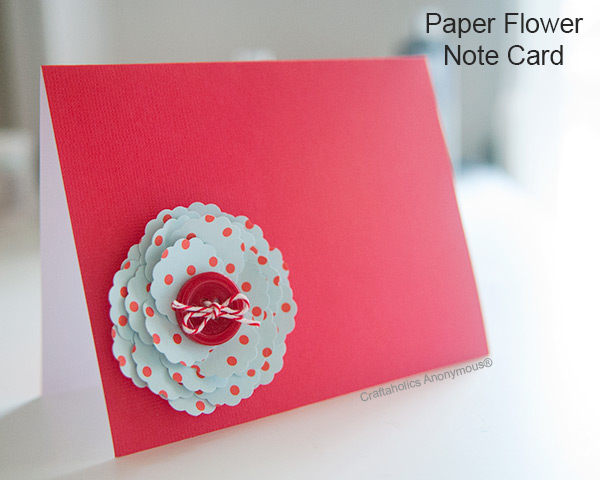 flower notecard