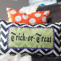 DIY Trick or Treat Halloween Pillow