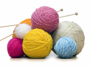 knitting yarn and hooks