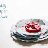 Easy Ruffled Paper Flower