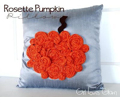 Rosette Pumpkin Pillow