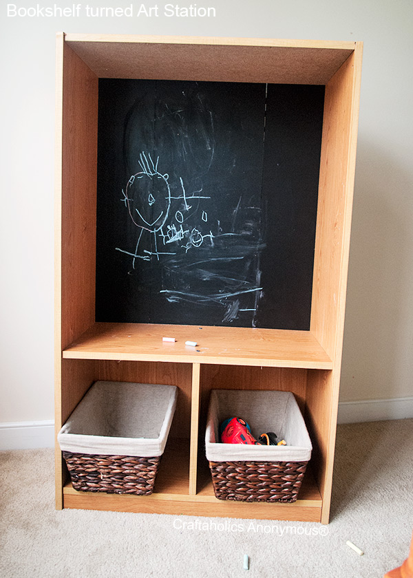 bookshelf chalkboard