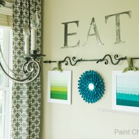 Paint Chip Art with Ombre