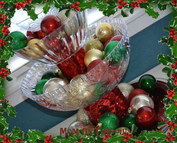 shatterproof Christmas centerpiece