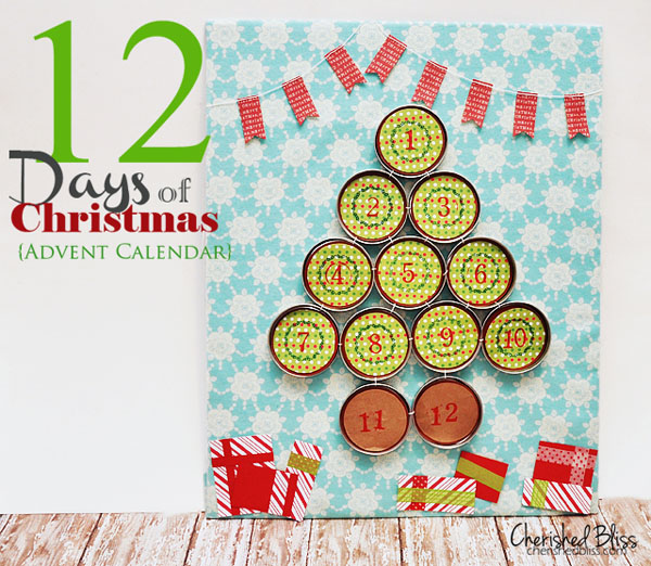 12 days of Christmas handmade calendar