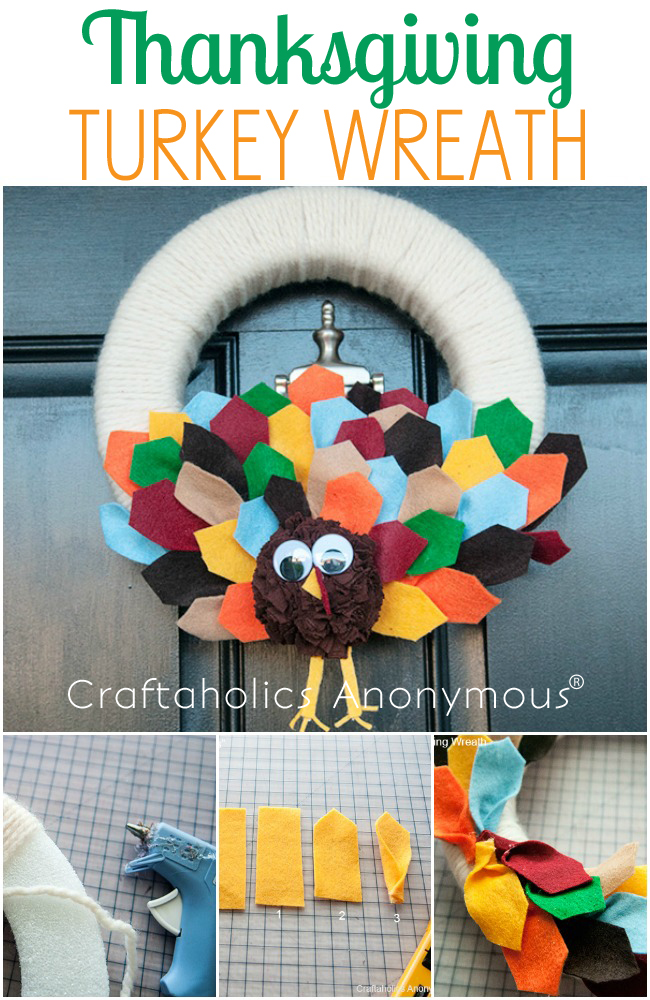 Cute Thanksgiving Turkey Wreath