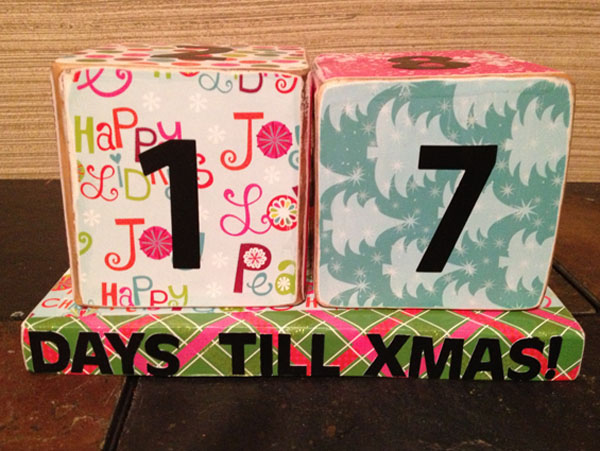 Christmas count down blocks