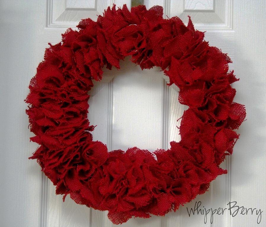 burlap valentine's wreath