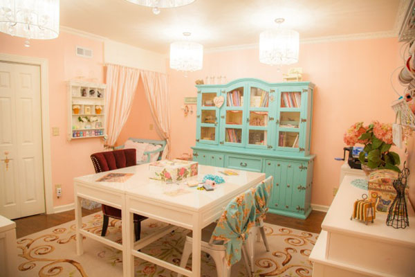 Christine's beautiful craft room