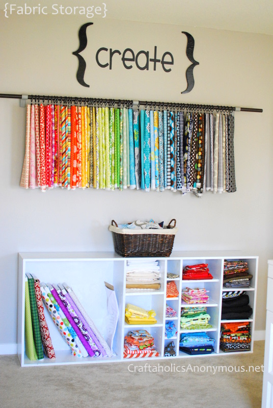 Craftaholics anonymous craft organization week craft desk for Cheap craft room storage ideas