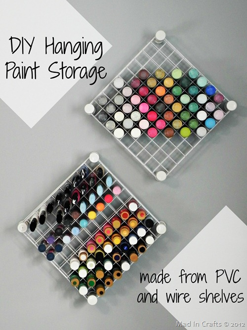 DIY Paint Storage