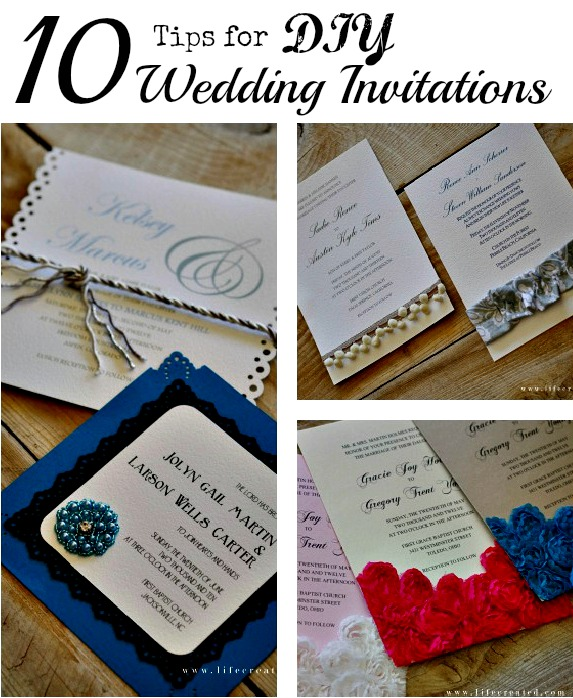 10 Tips For Making DIY Wedding