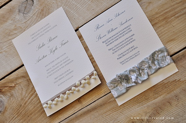 Ideas for handmade wedding invitations