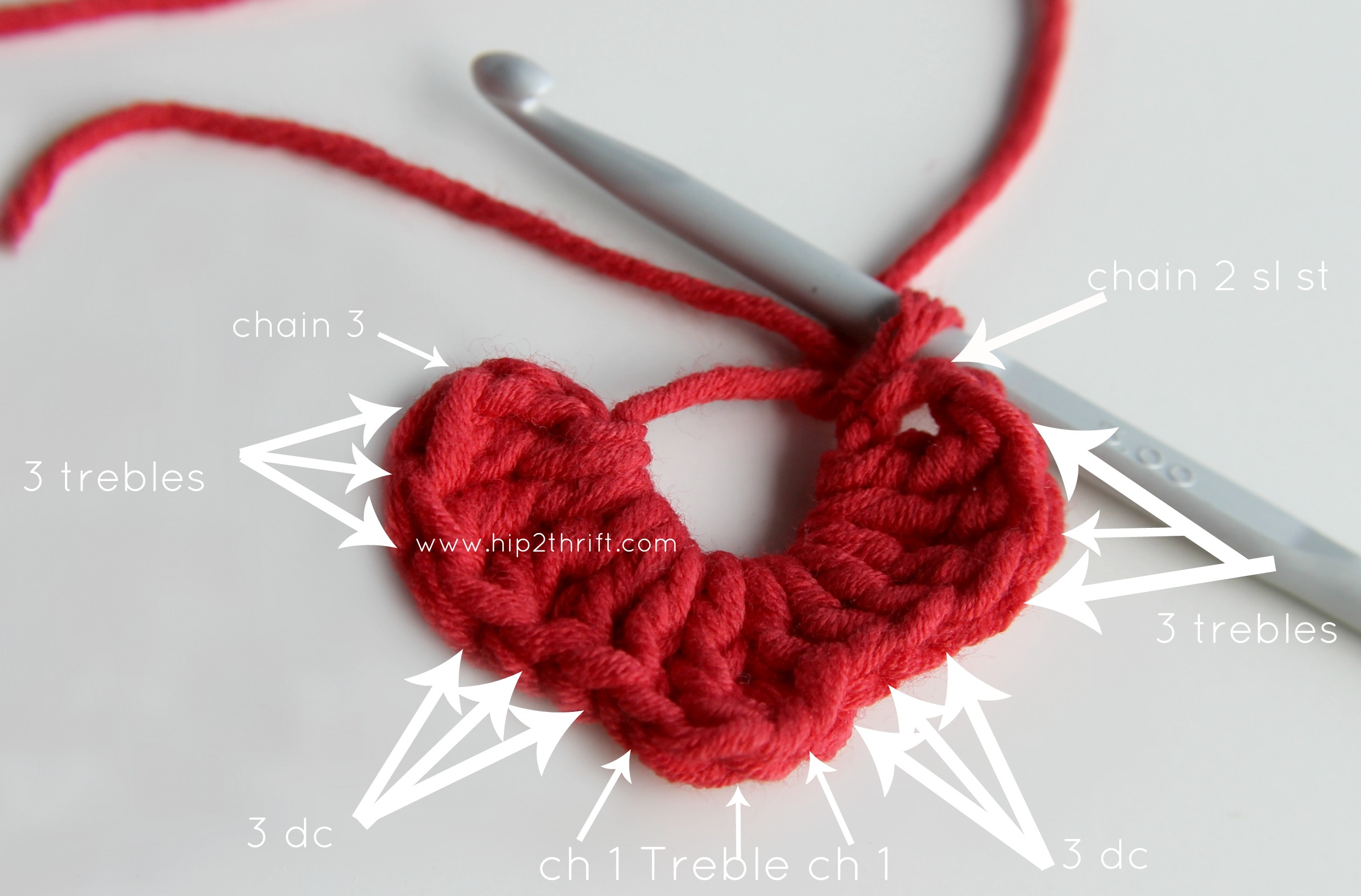 Crochet Heart : crochet heart tutorial