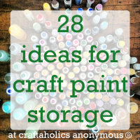 Craft Paint Storage Ideas