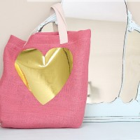 Easter Craft: Burlap & Metallic Tote
