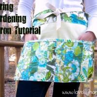 Fresh Spring Gardening Apron Pattern