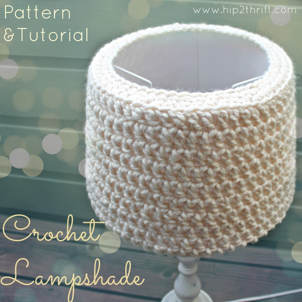crochet lampshade @hip2thrift