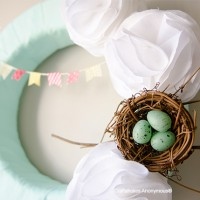 Spring Wreath with Bunting