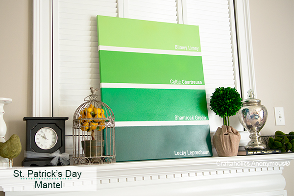 Craftaholics anonymous simple st patrick 39 s day mantel for Decor st