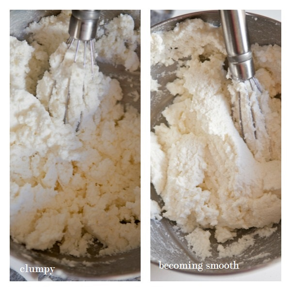 In a mixer, beat your heavy cream until it begins to become stiff and ...