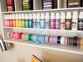 washi tape shelf