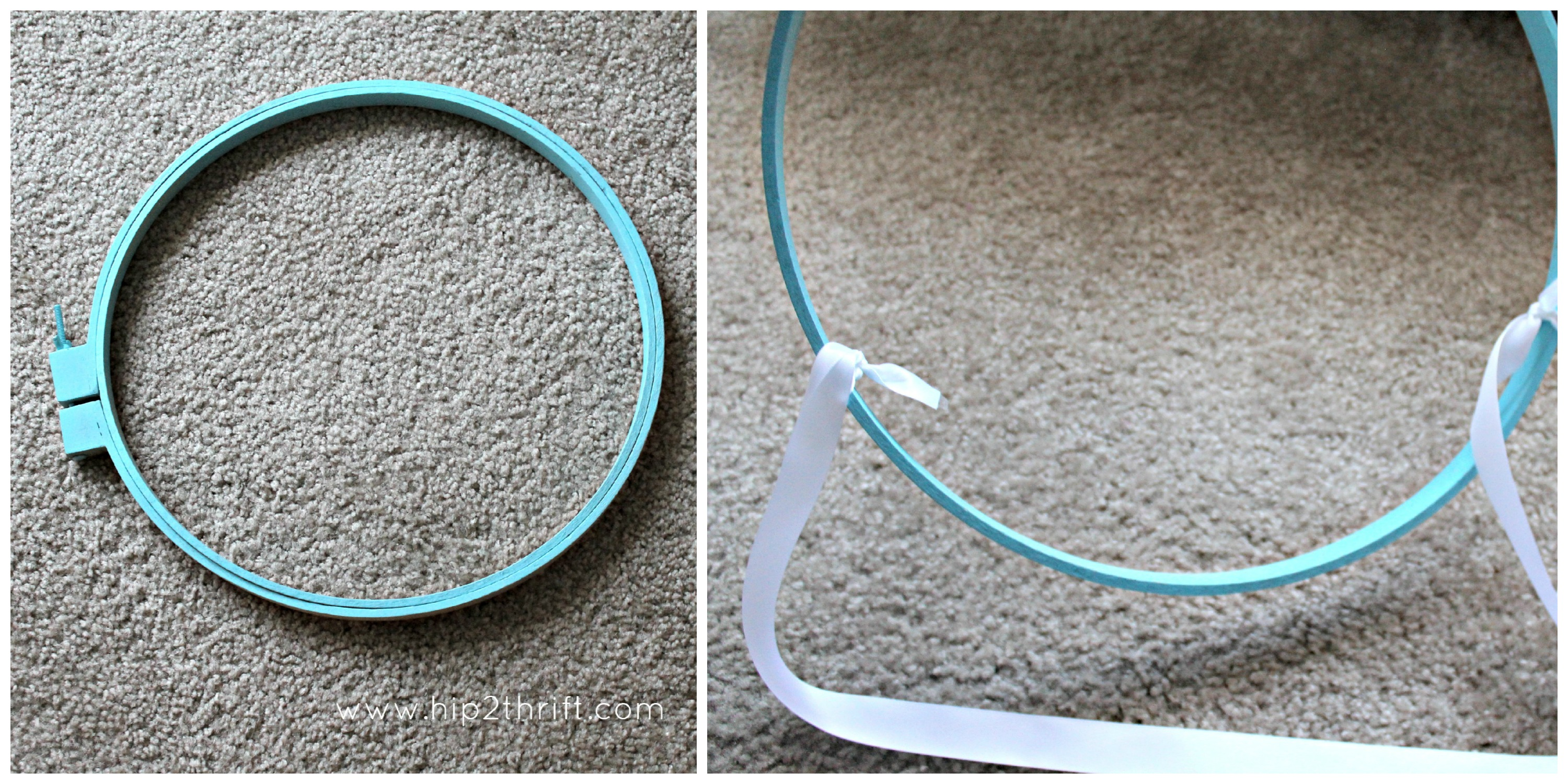 Make Bed Canopy Embroidery Hoop