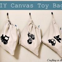 Drawstring Bag Tutorial for hanging Toy Storage
