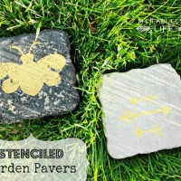 Garden Craft: Stenciled Pavers
