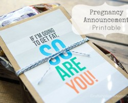 pregnancy announcement printable