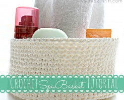 How to Crochet a Basket - perfect last minute Mother's Day gift!