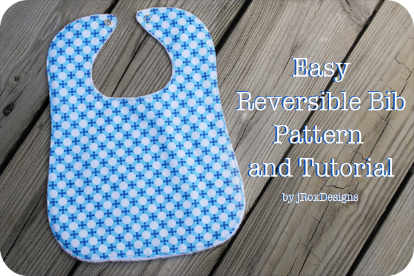 Reversible bib tutorial for infants and toddlers #sewing #baby #tutorial