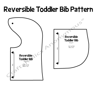 graphic relating to Baby Bib Pattern Printable identified as Craftaholics Anonymous® No cost Bib Habit for all Capability Concentrations!