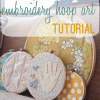 Hoop Art Tutorial: Handprint Keepsake